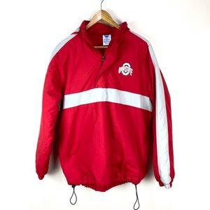 NCAA Ohio State Buckeyes Coat Jacket Red Gray
